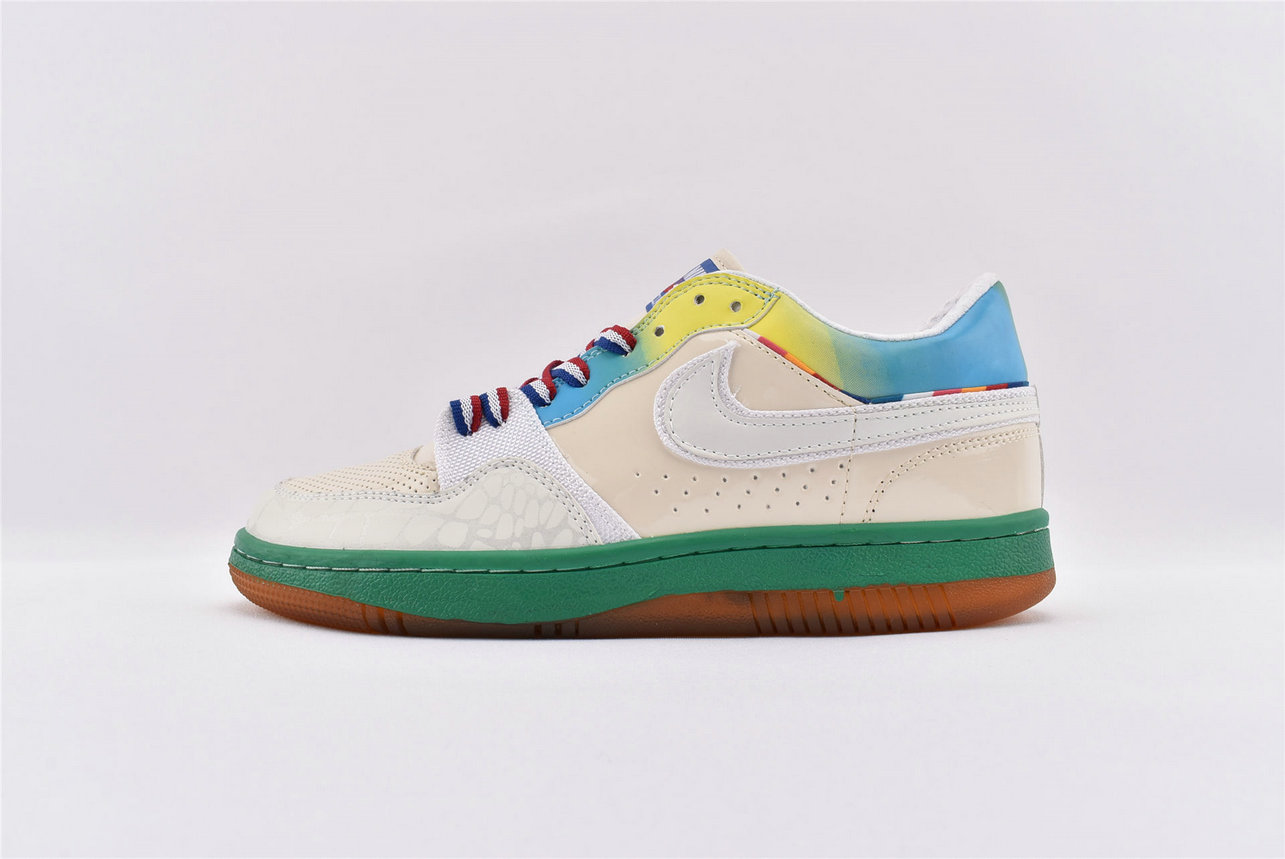 Where To Buy Wholesale Cheap Nike Court Force Low Premium White-White-Lucid Green-Laser Blue 314428-112 - www.wholesaleflyknit.com
