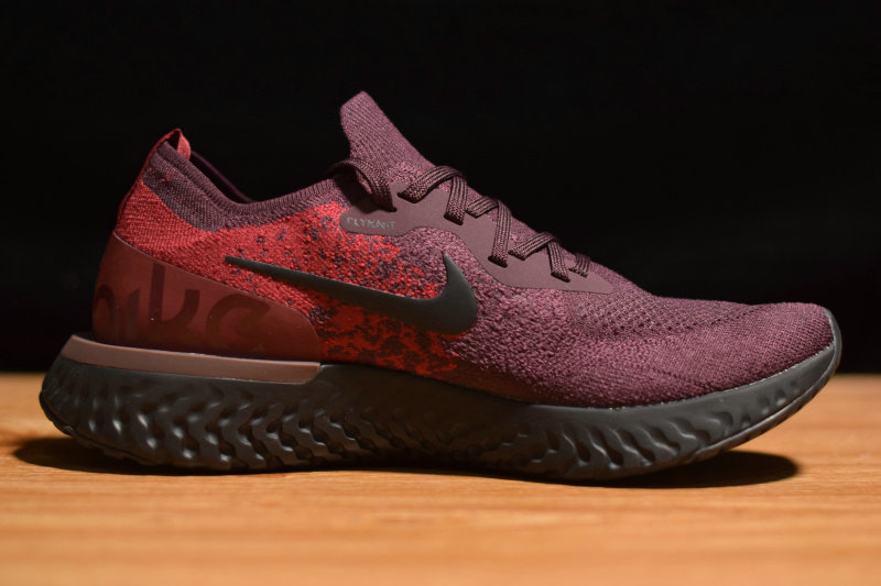 Where To Buy Cheap Wholesale Nike Epic React Flyknit Burgundy Black AT0054-600 - www.wholesaleflyknit.com