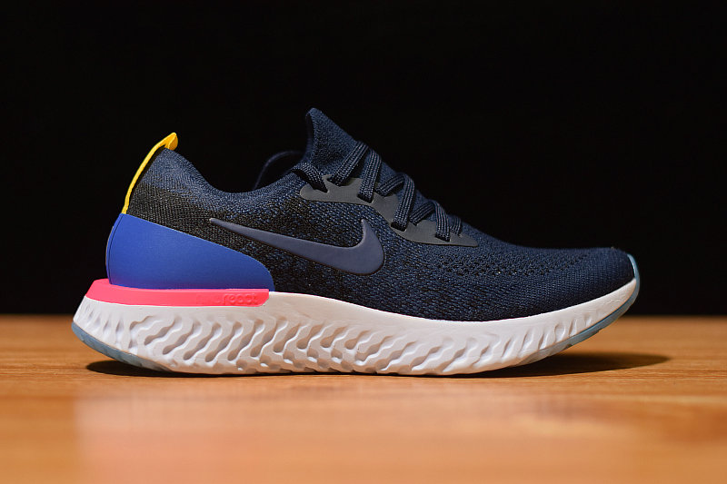 Where To Buy Cheap Wholesale Nike Epic React Flyknit College Navy AQ0070 400 - www.wholesaleflyknit.com