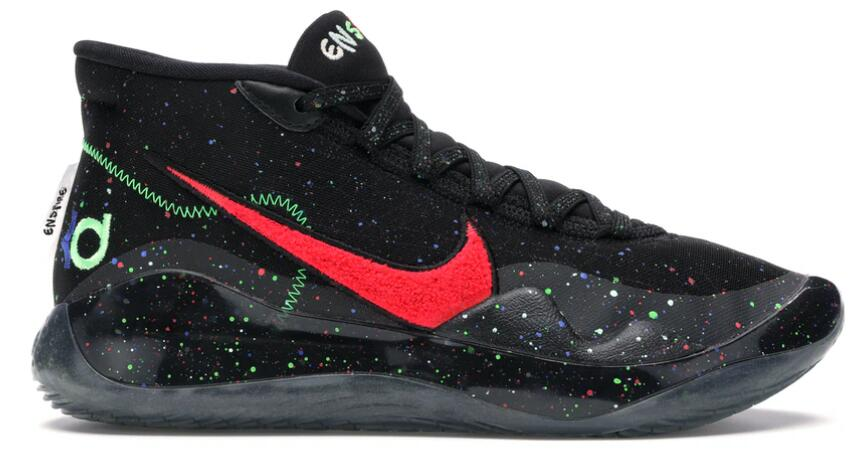 Where To Buy Cheap Wholesale Nike KD 12 Enspire Black Gym Red-Electric Green - www.wholesaleflyknit.com