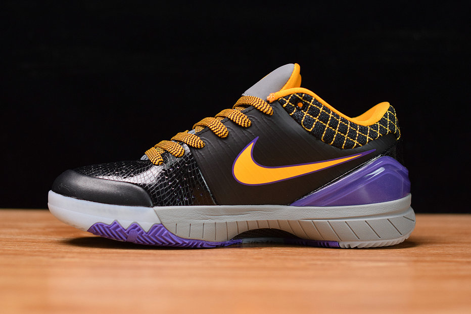Where To Buy Cheap Wholesale Nike Kobe 4 Black Orange Red Purple Noir Orange RPRO Viovif AV6339-001 - www.wholesaleflyknit.com