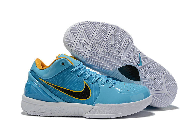 Where To Buy Cheap Wholesale Nike Kobe 4 Protro ZK4 Blue Black White Yellow CK2597 001 - www.wholesaleflyknit.com