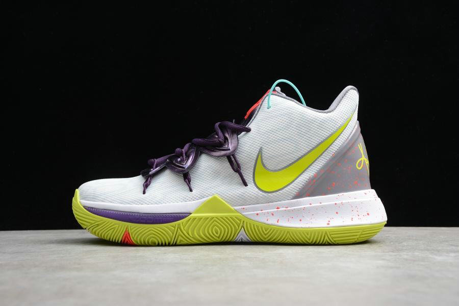 Where To Buy Cheap Wholesale Nike Kyrie 5 EP White Cyber Blanc AO2919-102 - www.wholesaleflyknit.com
