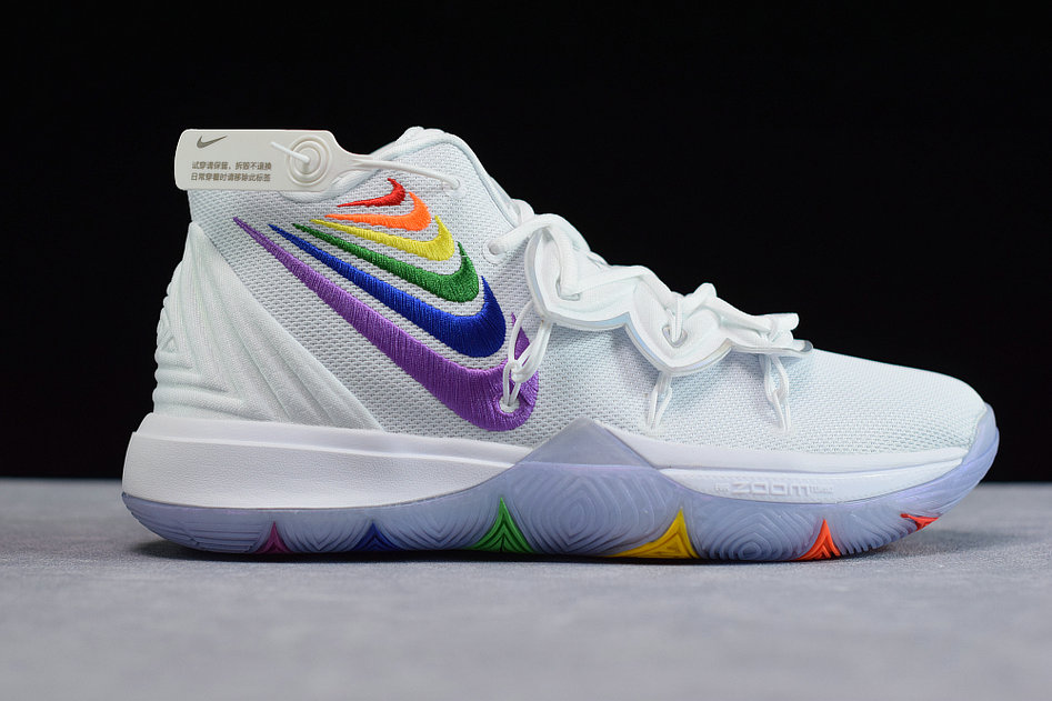 Where To Buy Cheap Wholesale Nike Kyrie 5 EP White Grey Blanc Gris AO2919-108 - www.wholesaleflyknit.com