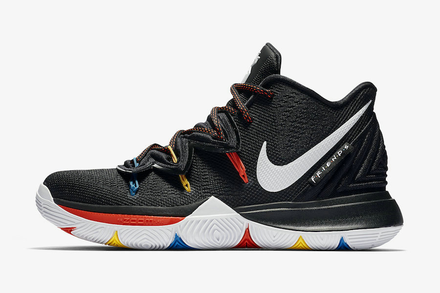 Where To Buy Cheap Wholesale Nike Kyrie 5 Friends Black White-Bright Crimson-Amarillo AO2919-006 - www.wholesaleflyknit.com