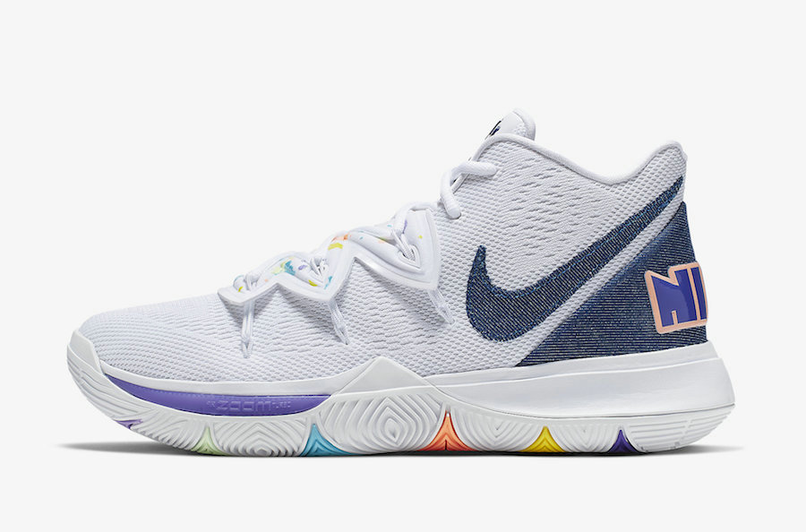Where To Buy Cheap Wholesale Nike Kyrie 5 Have A Nike Day White Deep Royal-Glacier Blue AO2919-101 - www.wholesaleflyknit.com