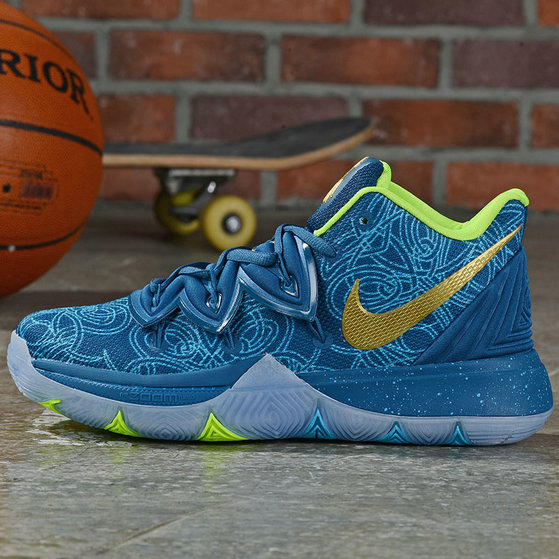 Where To Buy Cheap Wholesale Nike Kyrie 5 Irving Lake Blue Metallic Gold Fluorescent Green - www.wholesaleflyknit.com