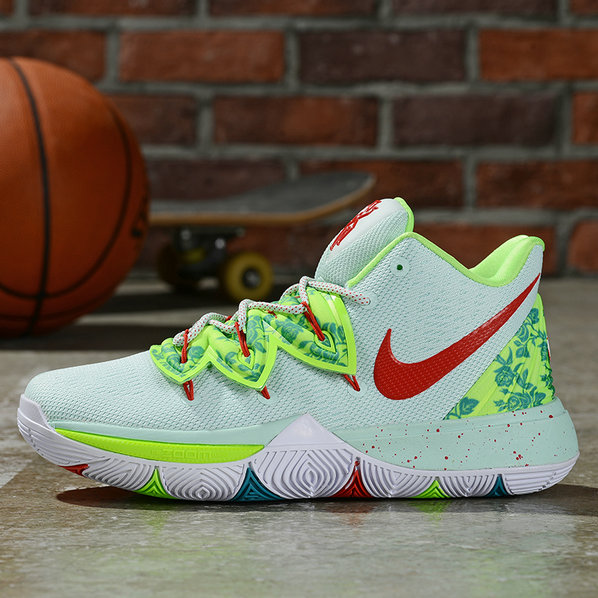 Where To Buy Cheap Wholesale Nike Kyrie 5 Irving Light Green Gym Red - www.wholesaleflyknit.com