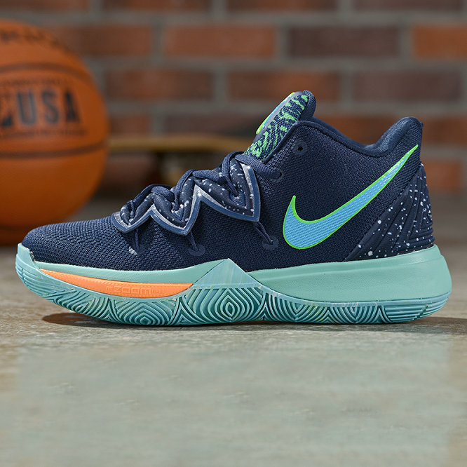 Where To Buy Cheap Wholesale Nike Kyrie 5 Irving Obsidian Light Current Green-Scream Green AO2918-400 - www.wholesaleflyknit.com