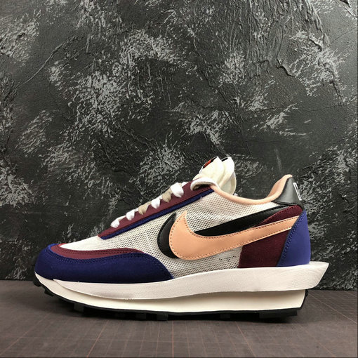 Where To Buy Cheap Wholesale Nike LdWaffle Sacai White Grey Dk.Purple Blanc Gris Dk.Violet BV0073-700 - www.wholesaleflyknit.com