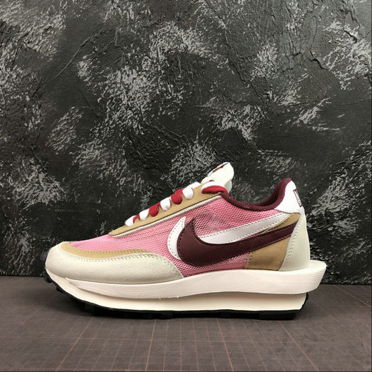 Where To Buy Cheap Wholesale Nike LdWaffle Sacai White Grey LT.Pink Blanc Gris LT.Rose BV0073-500 - www.wholesaleflyknit.com