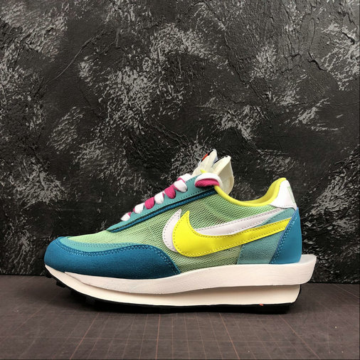 Where To Buy Cheap Wholesale Nike LdWaffle Sacai White Jade Yellow Blanc Jaune BV0073-600 - www.wholesaleflyknit.com