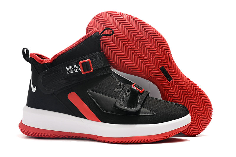 Where To Buy Cheap Wholesale Nike Lebrons Soldier 13 Rouge Red Black White - www.wholesaleflyknit.com
