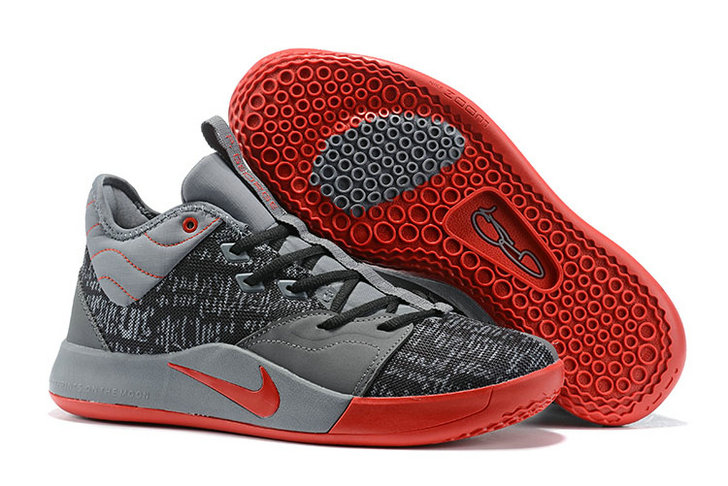 Where To Buy Cheap Wholesale Nike PG 3 Grey Rouge Red Black - www.wholesaleflyknit.com
