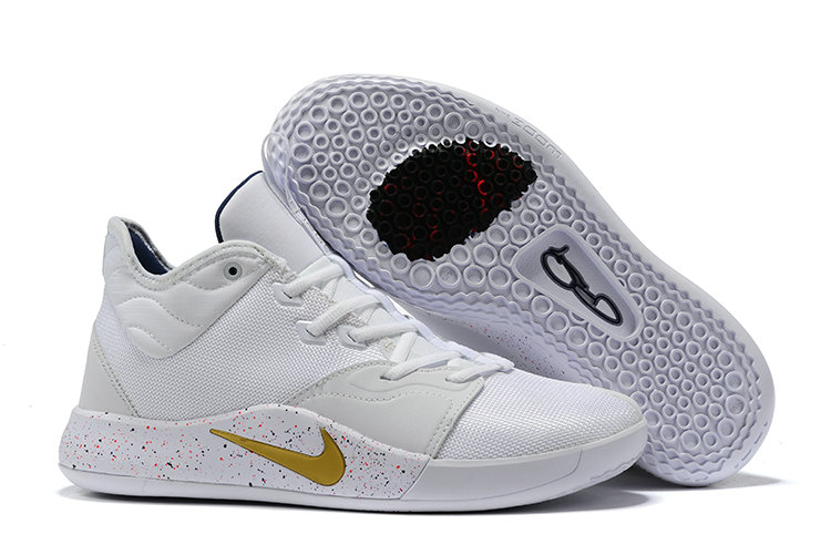 Where To Buy Cheap Wholesale Nike PG 3 White Gold AO2607-100 - www.wholesaleflyknit.com