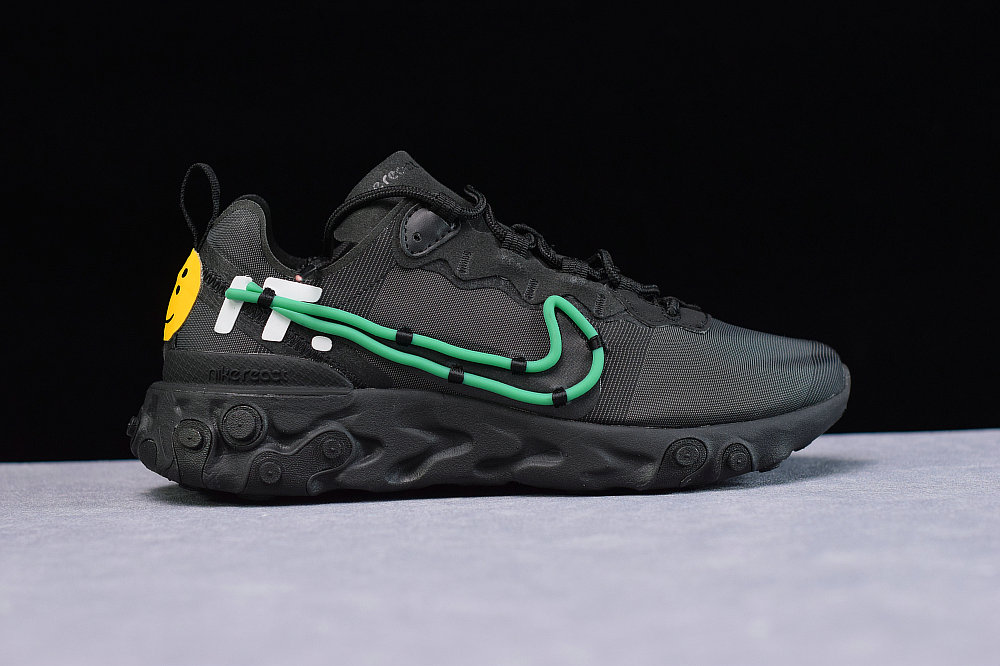 Where To Buy Cheap Wholesale Nike Upcoming React Element 55 CPFM JDI Green Mist LT Beige Chalk Brume Verte Craie CLR CI8001-001 - www.wholesaleflyknit.com
