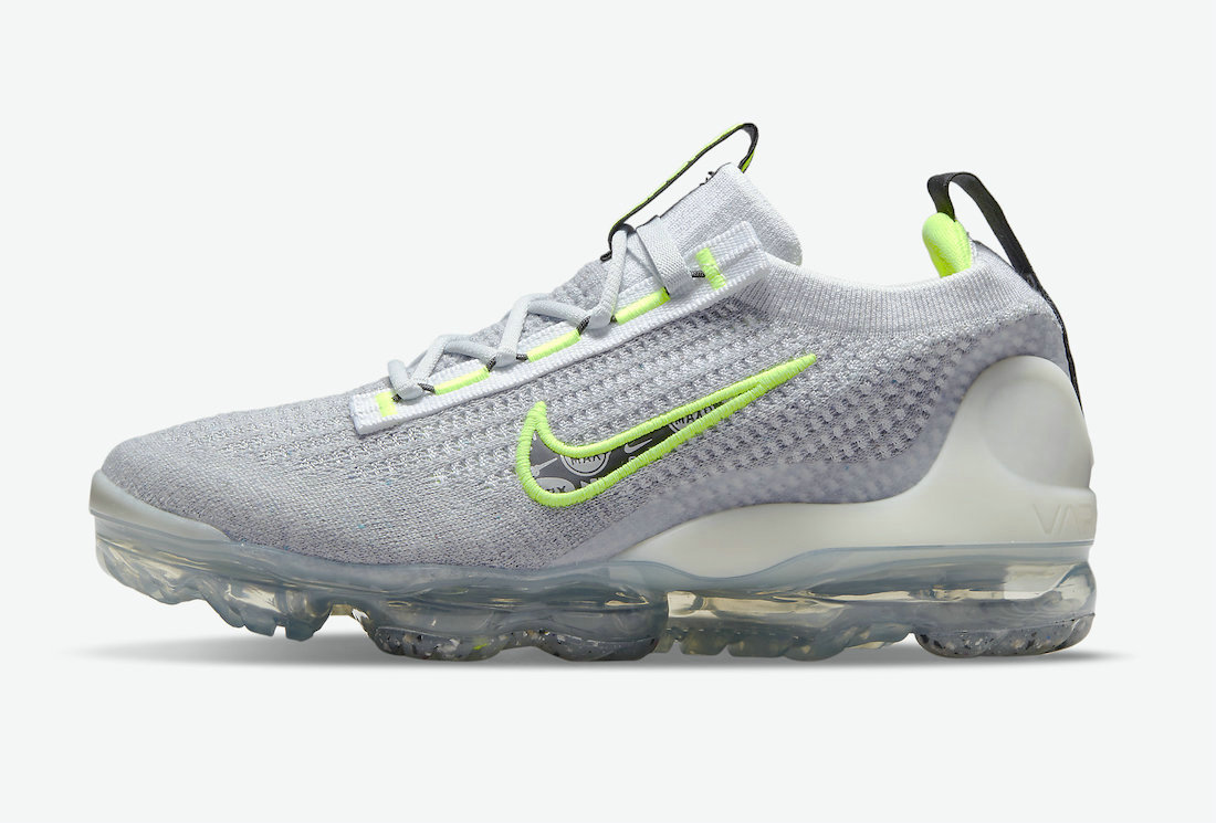 Where To Buy Cheap Wholesale Nike Vapormax Flyknit 2021 Logo Pack Grey And Volt DH4085-001 - www.wholesaleflyknit.com