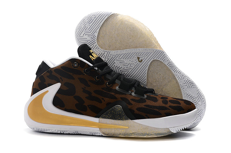 Where To Buy Cheap Wholesale Nike Zoom Freak 1 Gold Brown Black White - www.wholesaleflyknit.com