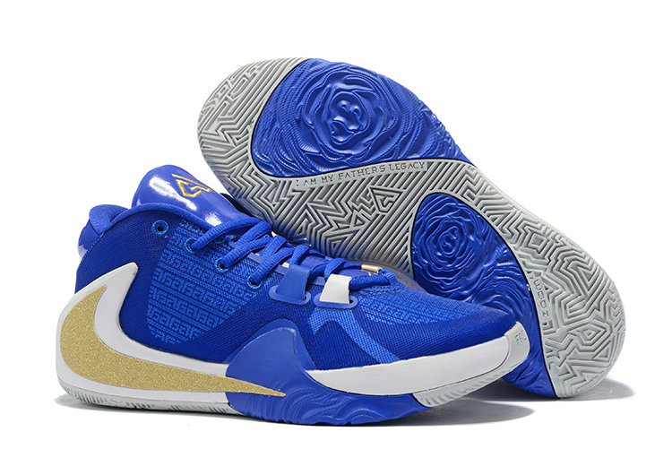 Where To Buy Cheap Wholesale Nike Zoom Freak 1 Photo Blue Gold White - www.wholesaleflyknit.com