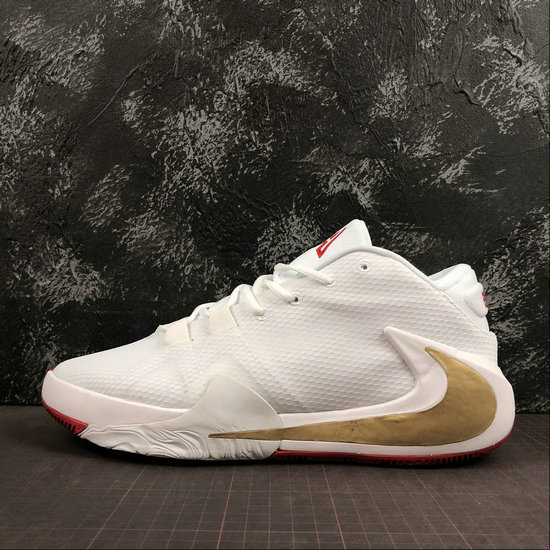 Where To Buy Cheap Wholesale Nike Zoom Freak 1 Roses White Metallic Gold-University Red BQ5422-100 - www.wholesaleflyknit.com