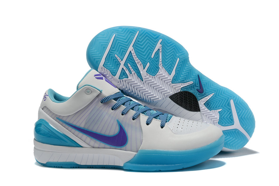 Where To Buy Cheap Wholesale Nike Zoom Kobe 4 Protro Draft Day White Blue AV6339-100 - www.wholesaleflyknit.com