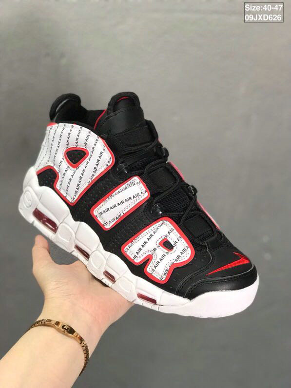 Where To Buy Cheap Wholesale Nikes Air More Uptempo Black Gym Red White - www.wholesaleflyknit.com