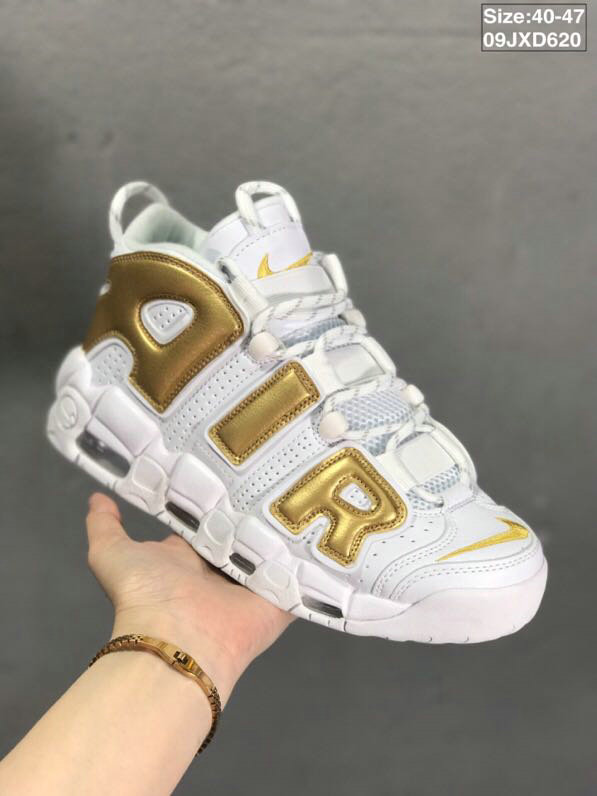 Where To Buy Cheap Wholesale Nikes Air More Uptempo Metallic Gold White - www.wholesaleflyknit.com
