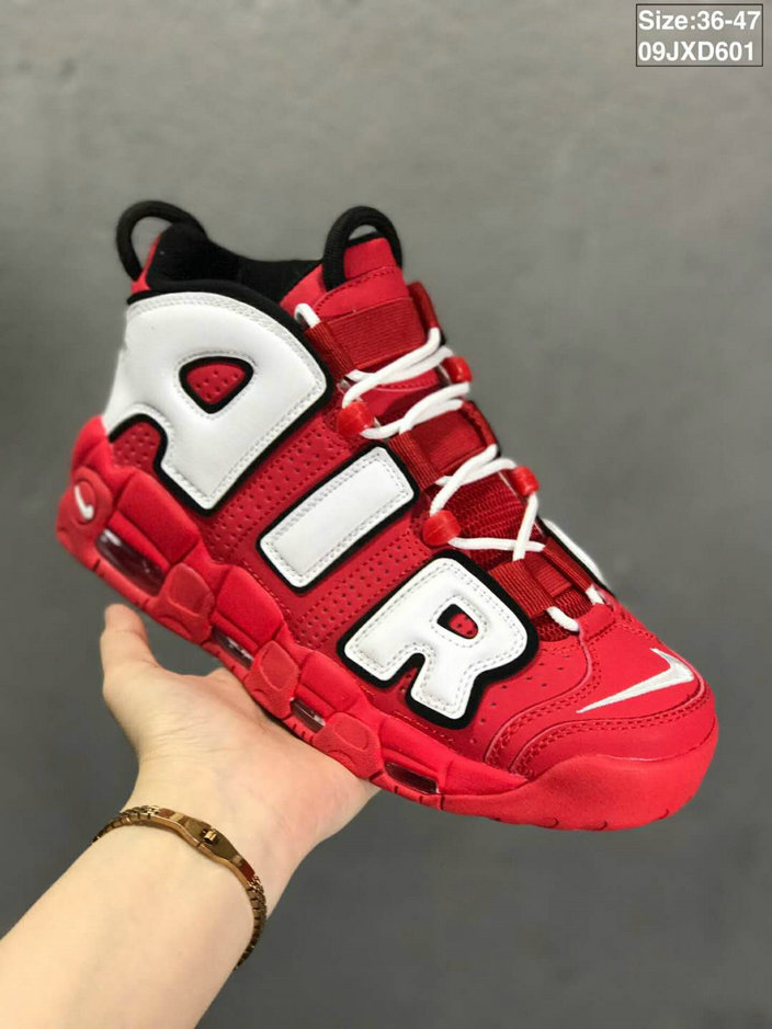 Where To Buy Cheap Wholesale Nikes Air More Uptempo Rouge Red White Black - www.wholesaleflyknit.com
