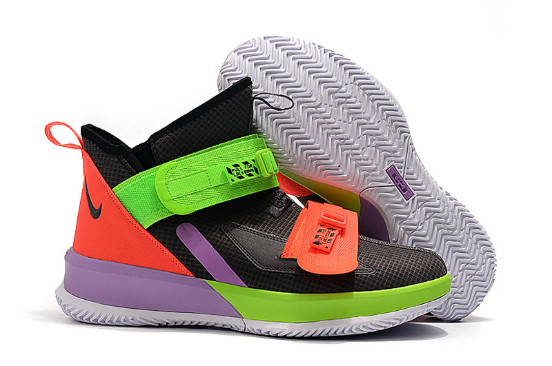 Where To Buy Cheap Wholesale Kids Nike Lebrons Soldier 13 Green Red Black Purple - www.wholesaleflyknit.com