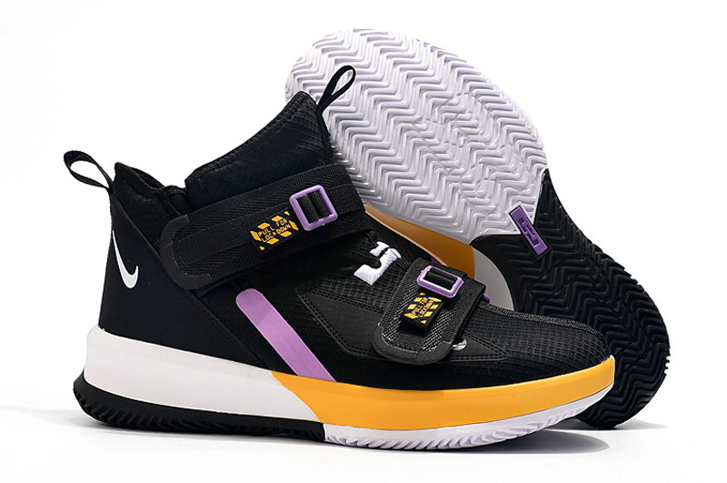 Where To Buy Cheap Wholesale Kids Nike Lebrons Soldier 13 Yellow Black White Light Purple - www.wholesaleflyknit.com