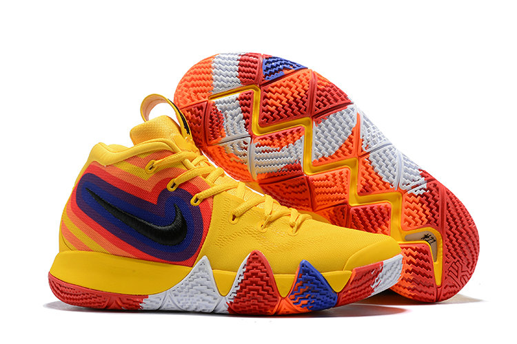 Cheap Wholesale Where To Buy Nike Kyrie 4 70s 943807-700 Yellow Orange Purple and Red - www.wholesaleflyknit.com