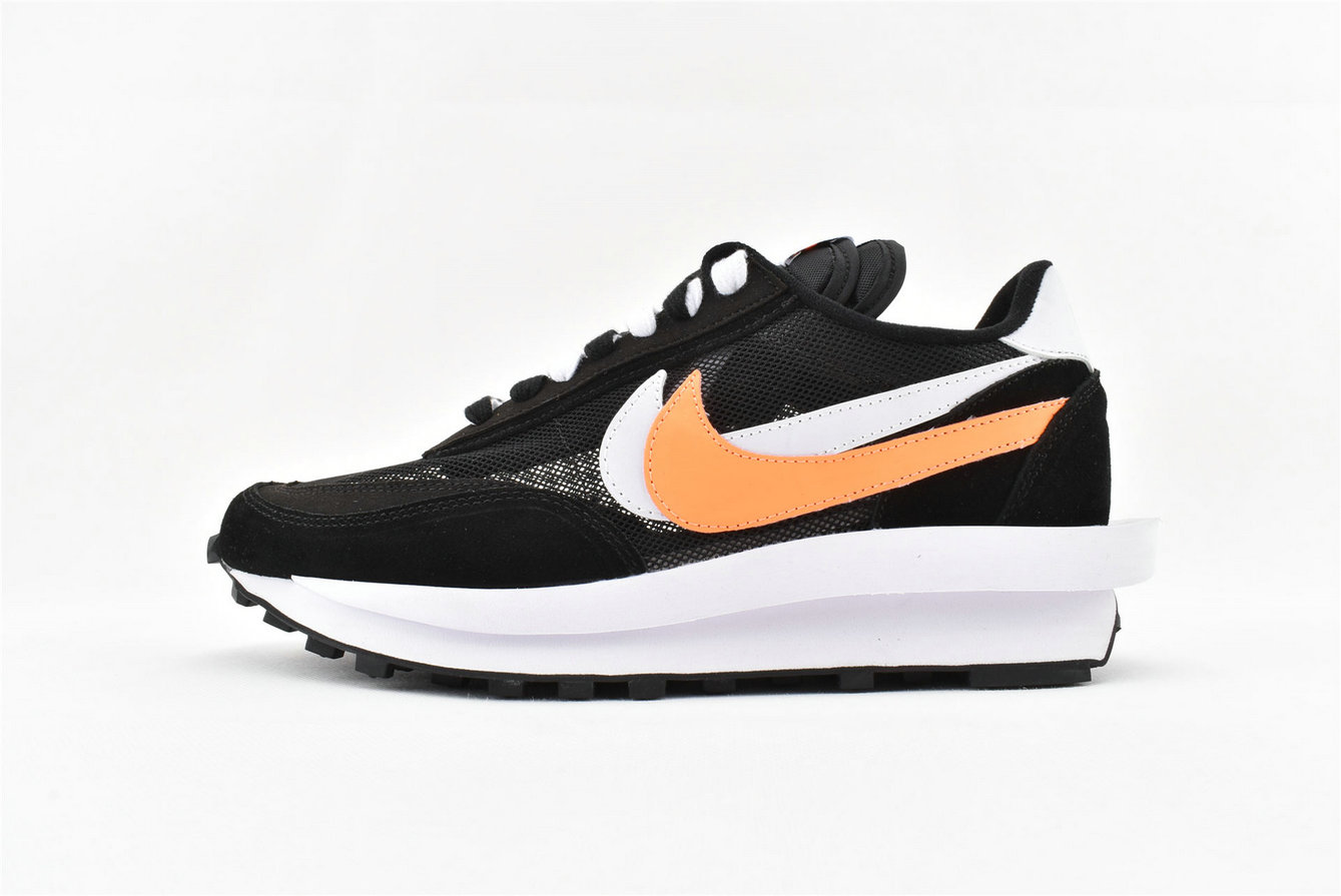 Where To Buy Wholesale Cheap Sacai x Nike LDV Waffle Daybreak Orange Black White BV0073 010 - www.wholesaleflyknit.com