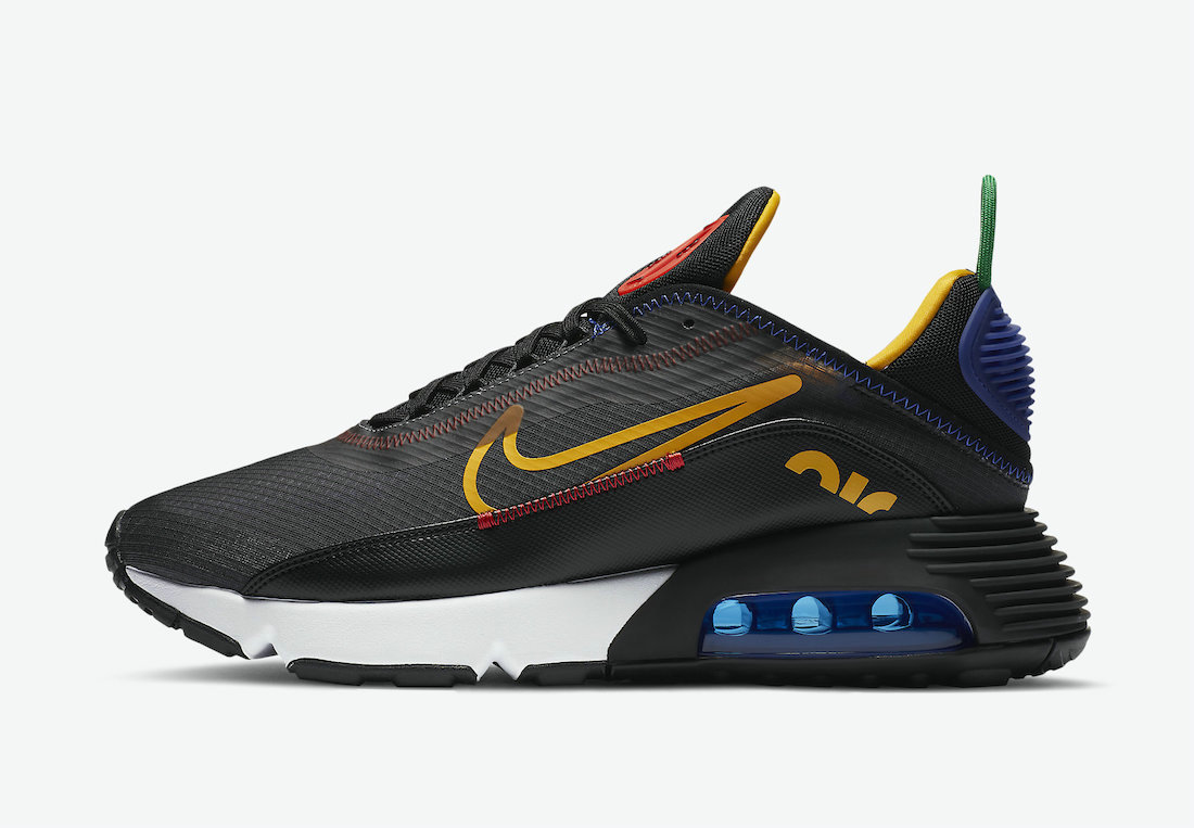 Where To Buy Womens 2021 Cheapest Nike Air Max 2090 Dark Grey Black-Chile Red-University Gold DC1465-001 - www.wholesaleflyknit.com