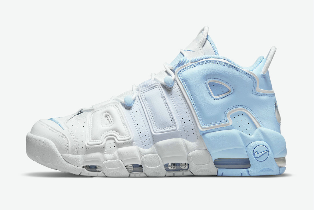 Where To Buy Womens 2021 Cheapest Nike Air More Uptempo Psychic Blue Football Grey-White-Multi-Color DJ5159-400 - www.wholesaleflyknit.com