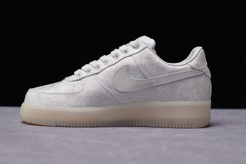 Where To Buy Cheap Wholesale Womens Clot x Nike Air Force 1 Premium AF1 White Blanc AO9286-100 - www.wholesaleflyknit.com