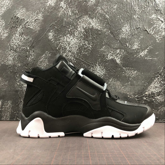 Where To Buy Cheap Wholesale Womens Nike Air Barrage Mid QS Black White CD9329-010 - www.wholesaleflyknit.com