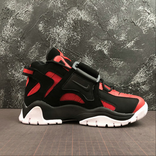 Where To Buy Cheap Wholesale Womens Nike Air Barrage Mid QS University Red Black-White CD9329-006 - www.wholesaleflyknit.com