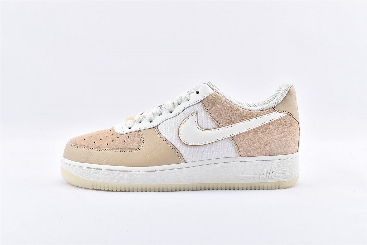 Where To Buy Wholesale Cheap Womens Nike Air Force 1 07 LV8 Beige White AO2425-200 - www.wholesaleflyknit.com