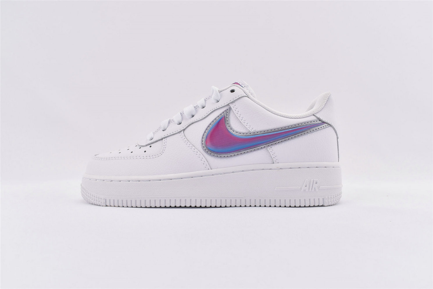 Where To Buy Wholesale Cheap Womens Nike Air Force 1 Low Oversized Swoosh White Racer Blue AO2441-101 - www.wholesaleflyknit.com