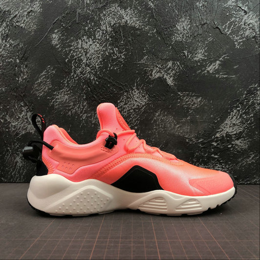 Where To Buy Cheap Wholesale Womens Nike Air Huarache City Move Lava Glow Blanc Noir AO3172-600 - www.wholesaleflyknit.com