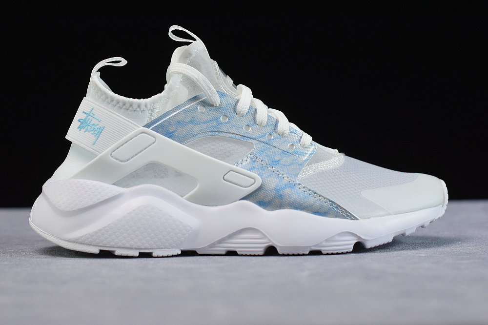 Where To Buy Cheap Wholesale Womens Nike Air Huarache Run Premium Transparent Spray Blue Transparence Blue 875868-003 - www.wholesaleflyknit.com