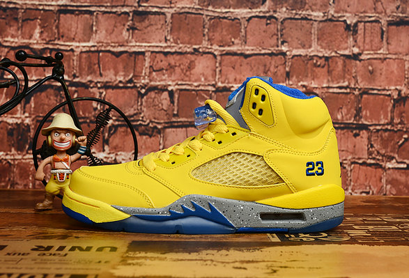 Where To Buy Cheap Wholesale Womens Nike Air Jordan 5 Yellow Blue - www.wholesaleflyknit.com