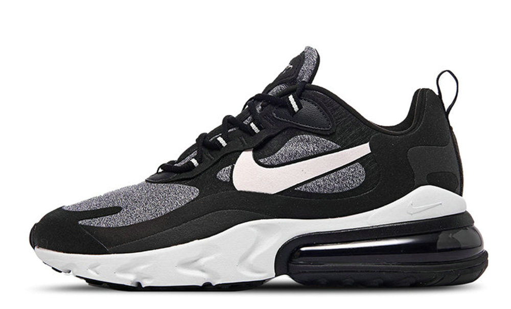 Where To Buy Cheap Wholesale Womens Nike Air Max 270 React Black Vast Grey-Off Noir-Black AT6174-001 - www.wholesaleflyknit.com