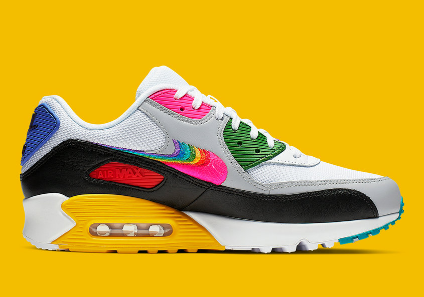 Where To Buy Cheap Wholesale Womens Nike Air Max 90 Be True White Multi Color Black Blanc Noir Couleur Multiple CJ5482-100 - www.wholesaleflyknit.com