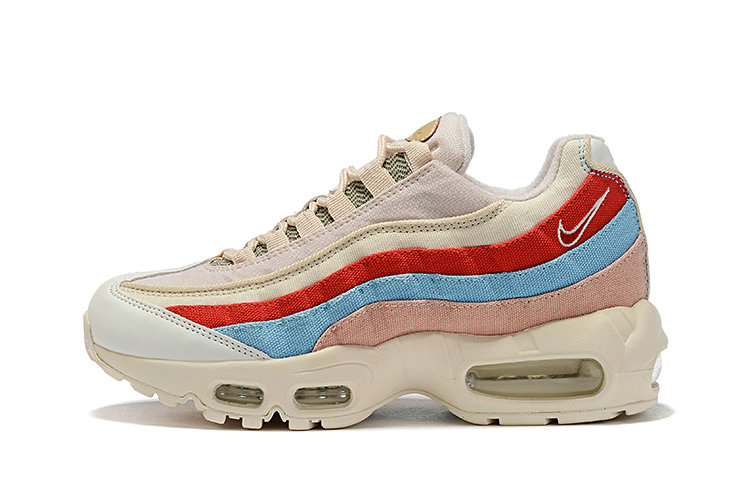 Where To Buy Wholesale Cheap Womens Nike Air Max 95 Beige Coral-Blue-Tan-White CD7142-800 - www.wholesaleflyknit.com