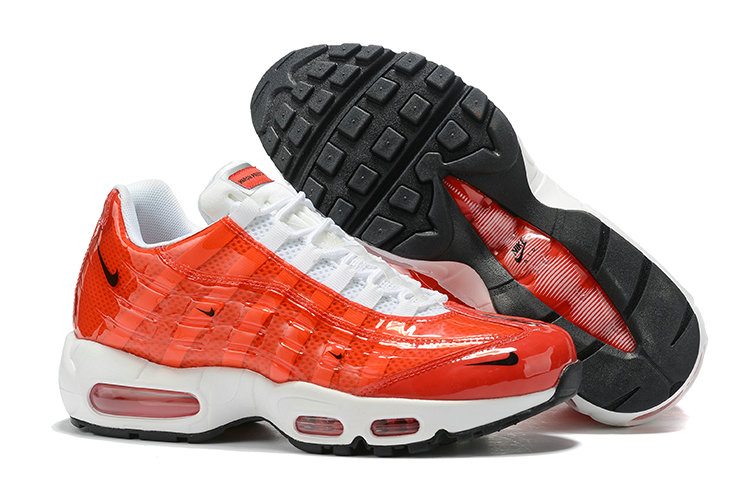 Where To Buy Cheap Wholesale Womens Nike Air Max 95 By Christian University Red White - www.wholesaleflyknit.com