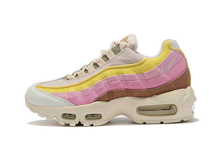 Where To Buy Wholesale Cheap Womens Nike Air Max 95 Plant Color Collection Beige Tan-Pink-Coral-White CD7142-700 - www.wholesaleflyknit.com