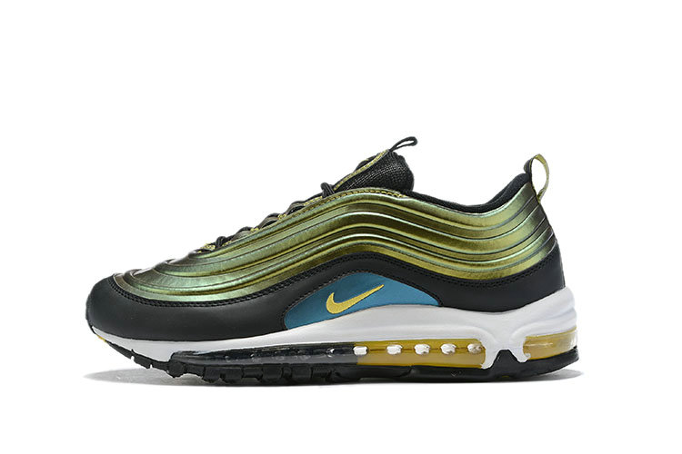 Where To Buy Wholesale Cheap Womens Nike Air Max 97 LX Olive Green Black White Gold - www.wholesaleflyknit.com