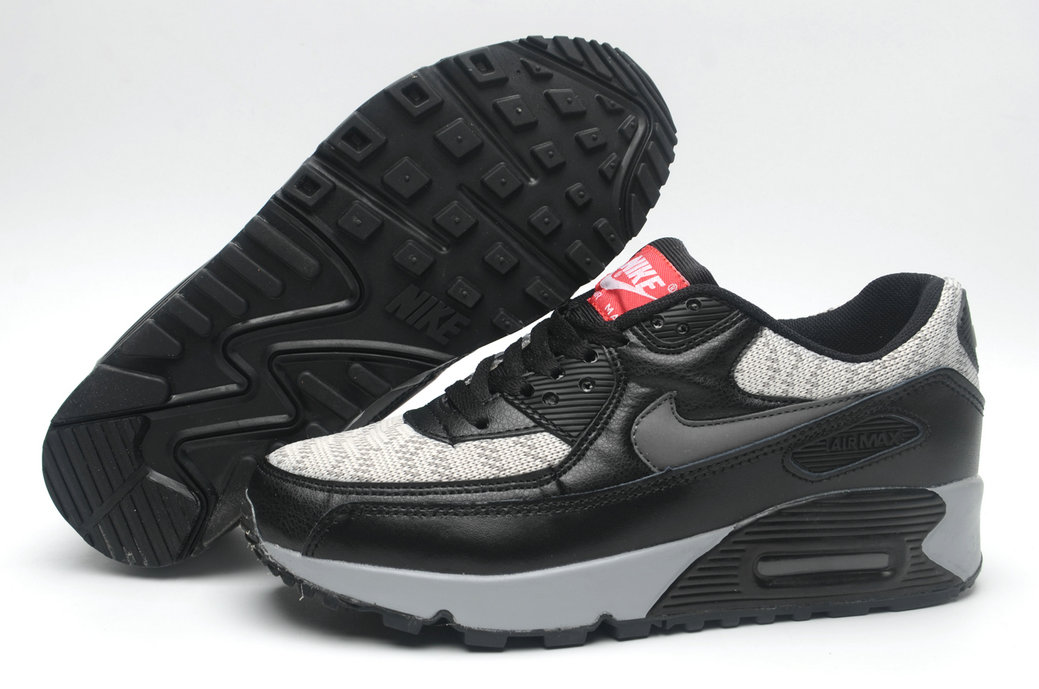 Where To Buy Cheap Wholesale Womens Nike Air Maxs 90 Black Grey - www.wholesaleflyknit.com