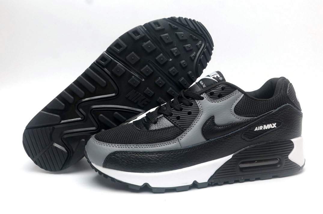Where To Buy Cheap Wholesale Womens Nike Air Maxs 90 Black Grey White - www.wholesaleflyknit.com